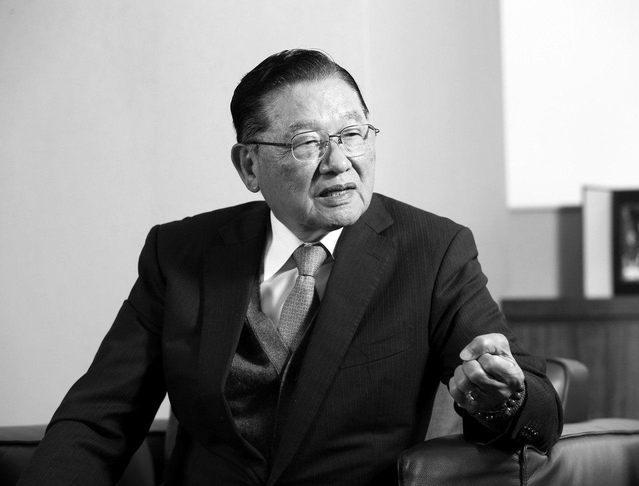 海基会前董事长江丙坤病逝。网上图片