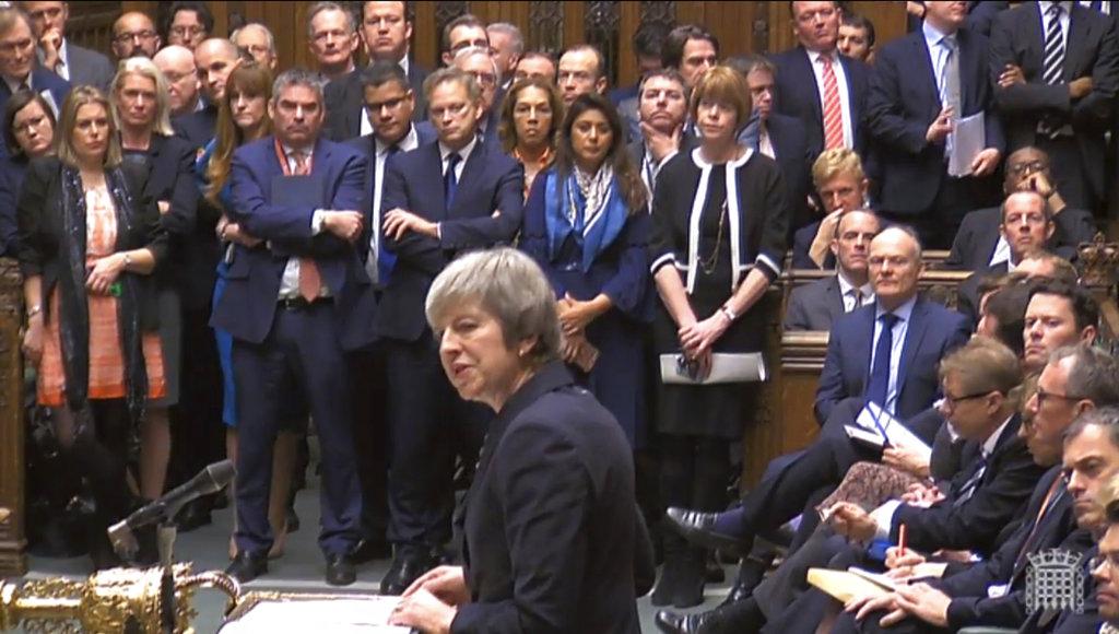 文翠珊押后脱欧协议表决。