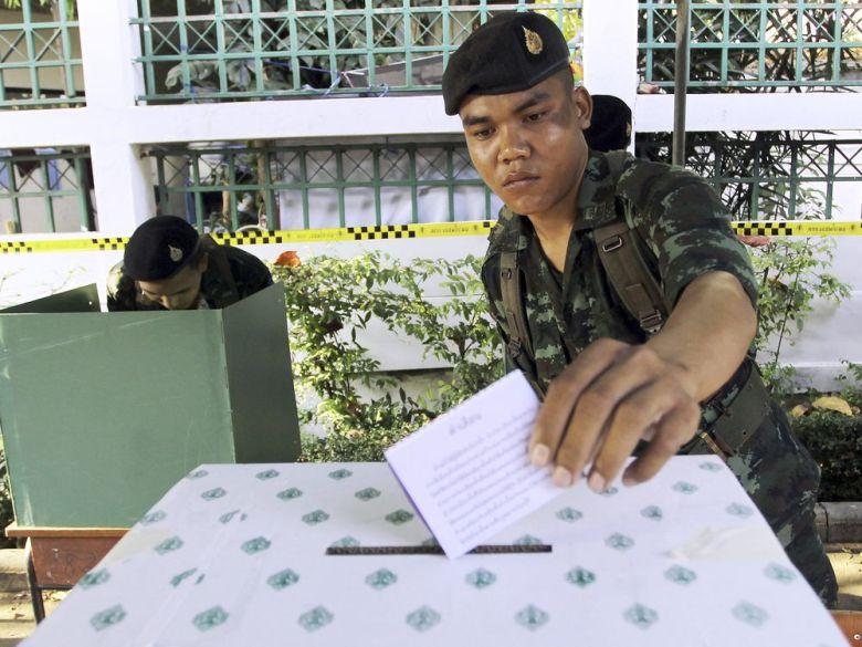 泰国2014年大选。资料图片