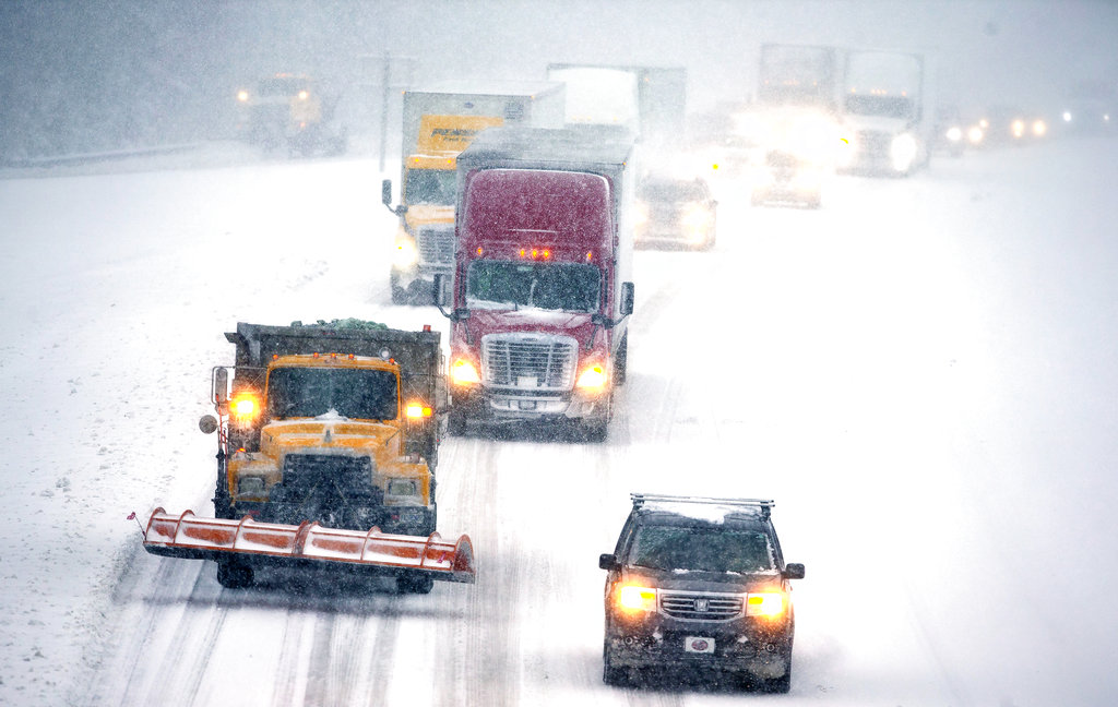 北卡州出现大风雪。图片