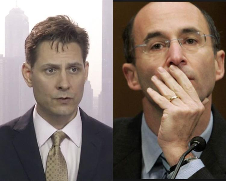 加拿大前外交官、国际危机组织东北亚高级顾问康明凯(左)、国际危机组织行政总裁马利(右)。/网图