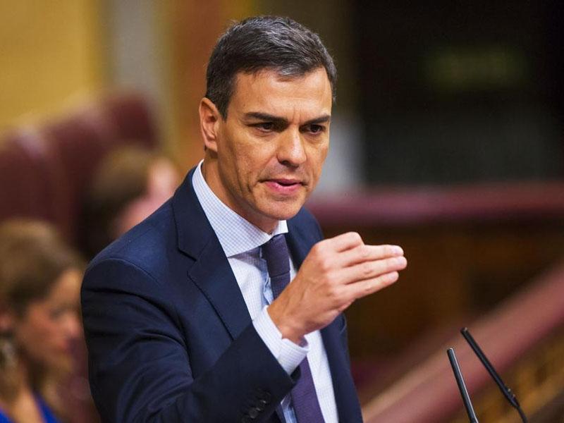 西班牙首相桑傑士宣布明年最低工資調升22%。(資料圖片)