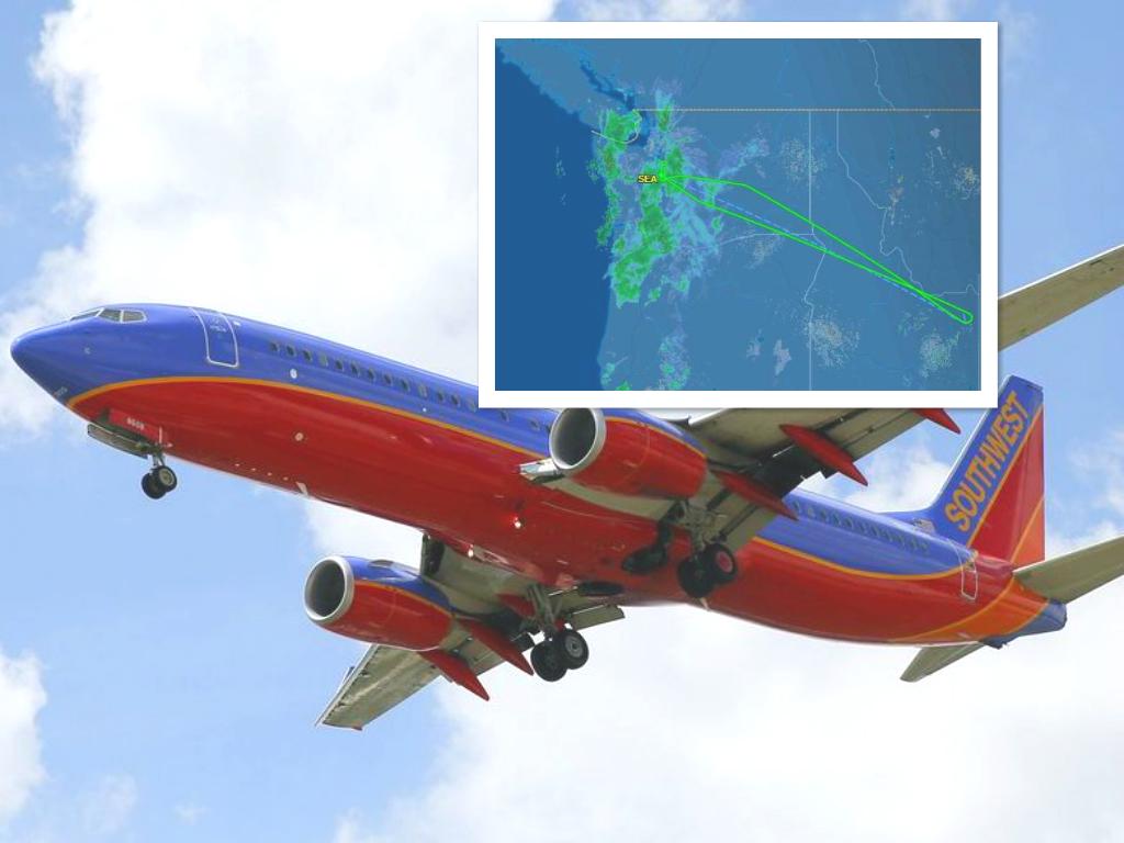 西南航空客机折返西雅图。/ flightaware