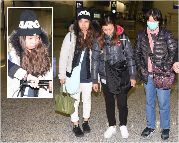 梁詠琳(左及小圖)表明,4個家庭都堅信4名被告無辜。