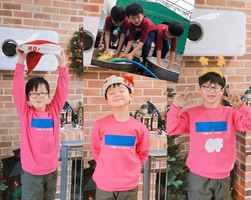 返咗韓國住?宋一國晒三胞胎醃泡菜迎聖誕