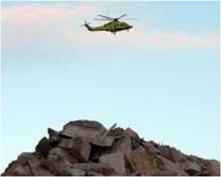 医疗直升机在回程时失去联络。网图