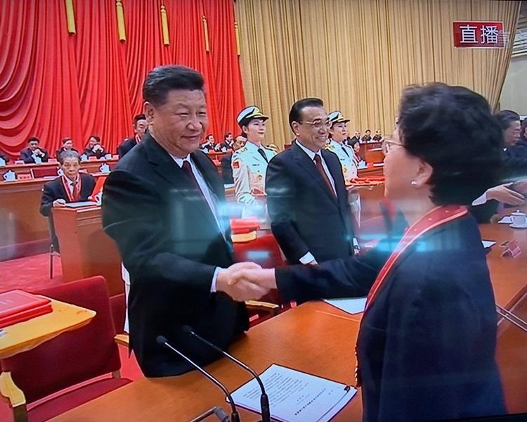 世衛前總幹事陳馮富珍被稱為「一帶一路衛生領域合作推動者」。港台電視圖片