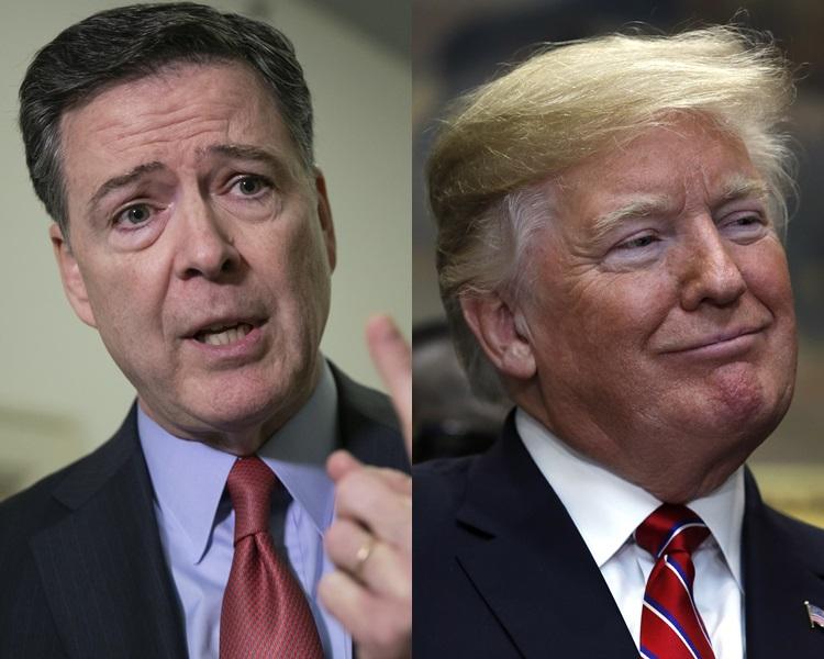 FBI 前局长科米炮轰特朗普是破坏法治的大话精。AP