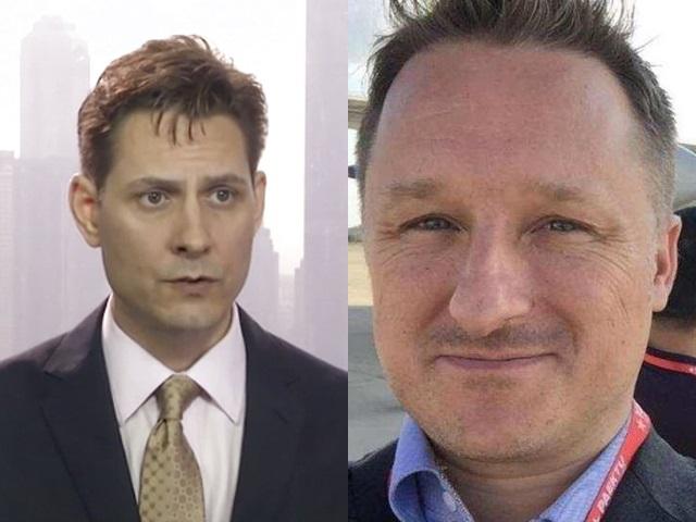 加拿大前外交人员康明凯,以及加拿大商人迈克尔。网上图片