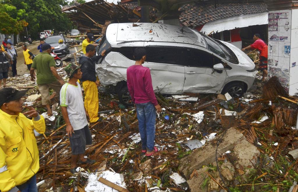 印尼海嘯死傷嚴重。AP