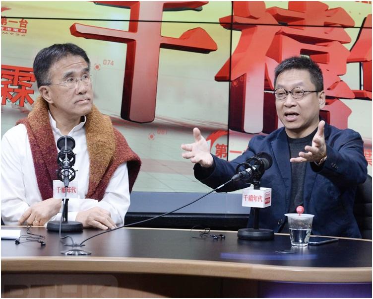 田北辰(左)和潘焯鴻都贊成扭鋼筋出來檢視。