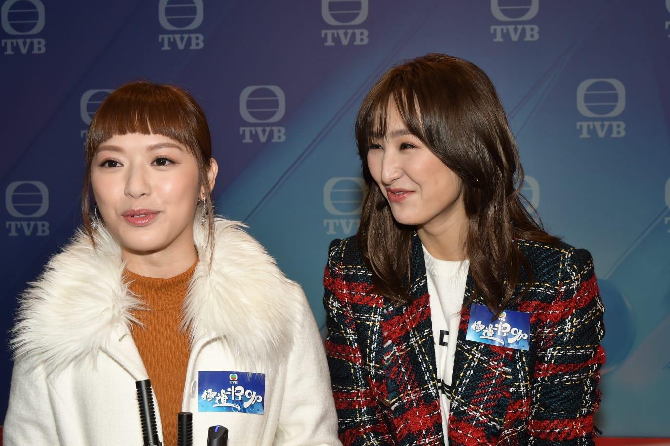 馮盈盈(左)及高海寧(右)為新劇《極度怪咖》試造型。