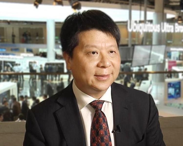 華為公司輪值董事長郭平。網圖