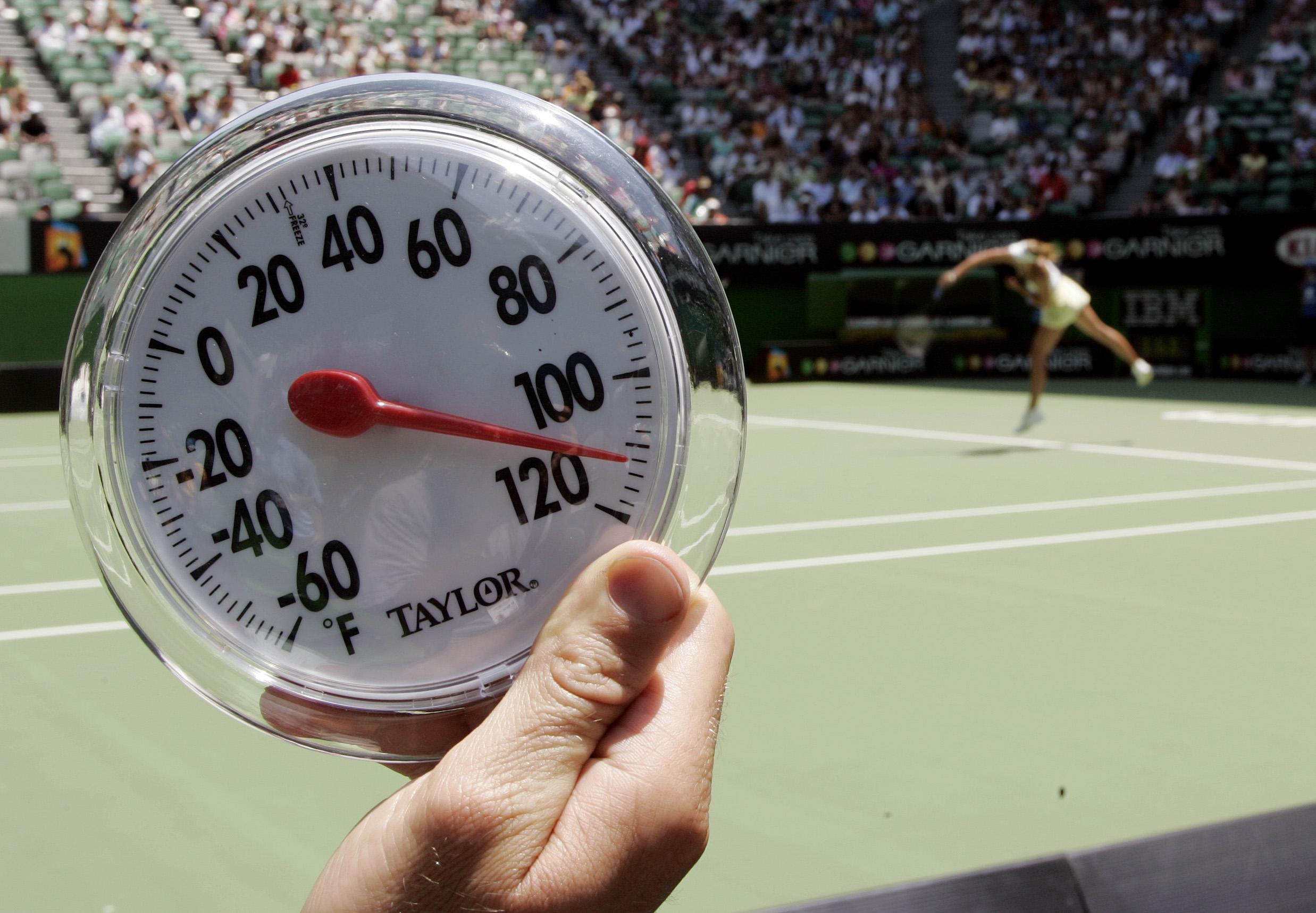 澳網期間,氣溫逾攝氏四十度並非奇事。AP