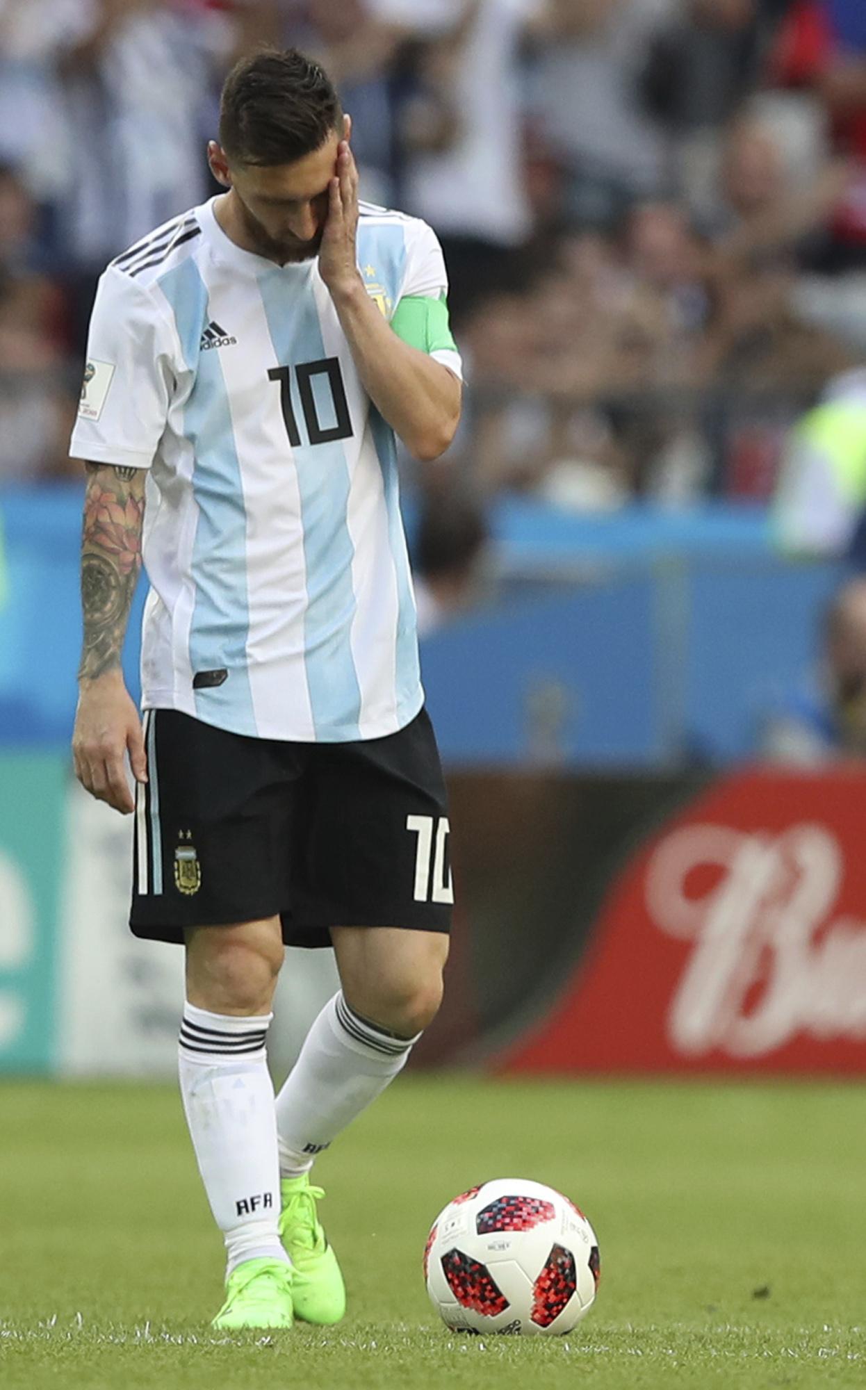 美斯今夏世盃十六強出局後,便未曾替阿根廷披甲。AP