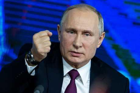 俄罗斯总统普京致函数名国家与国际组织领导人。AP