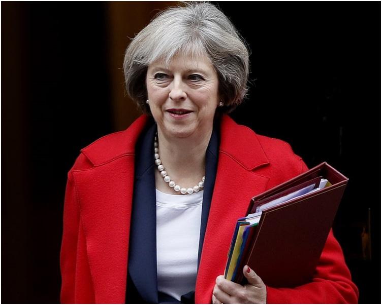 文翠珊在新年文告中敦促國會議員支持脫歐提案。AP
