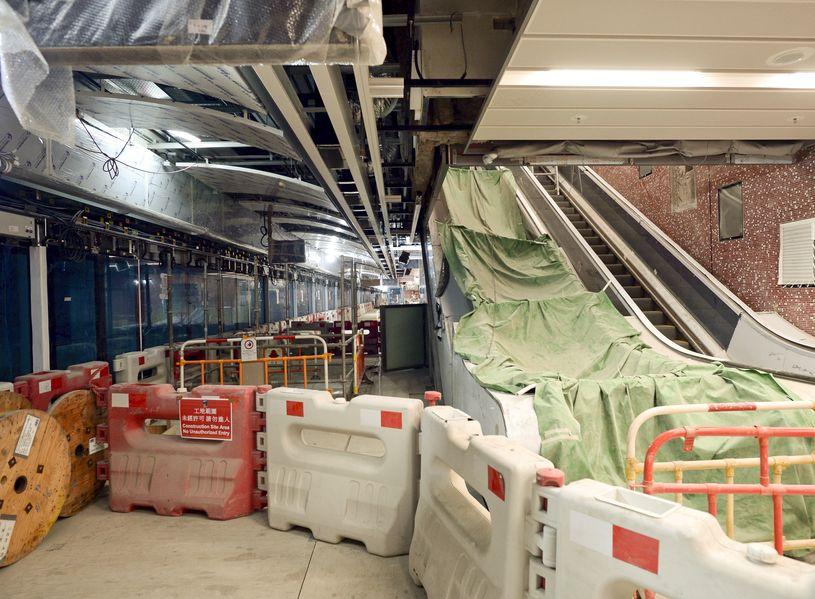 沙中線紅磡站鋼筋涉「剪短」。