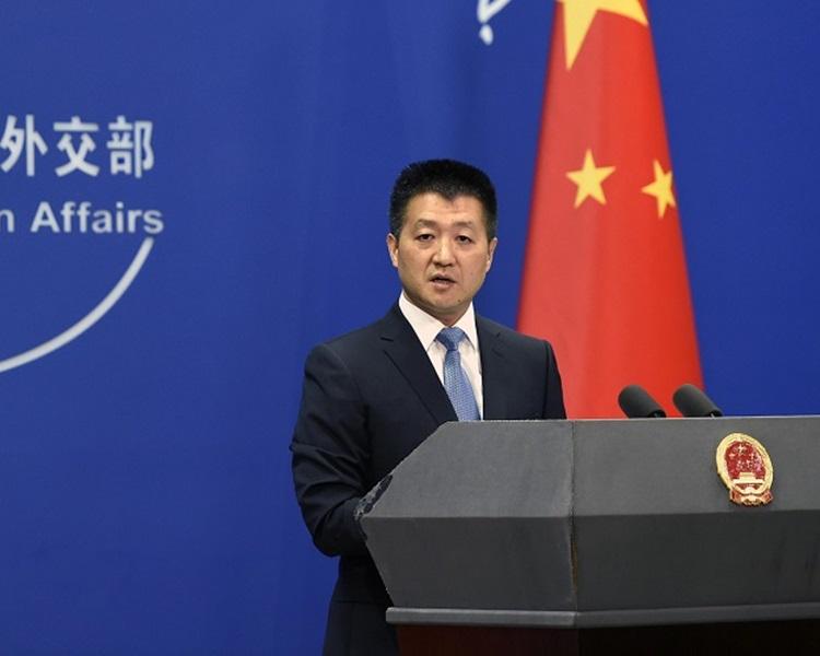 北京外交部发言人陆慷。新华社