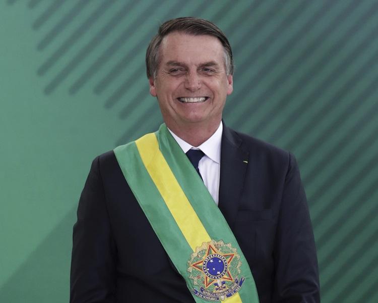 有「巴西特朗普」之稱的總統博爾索納羅。AP