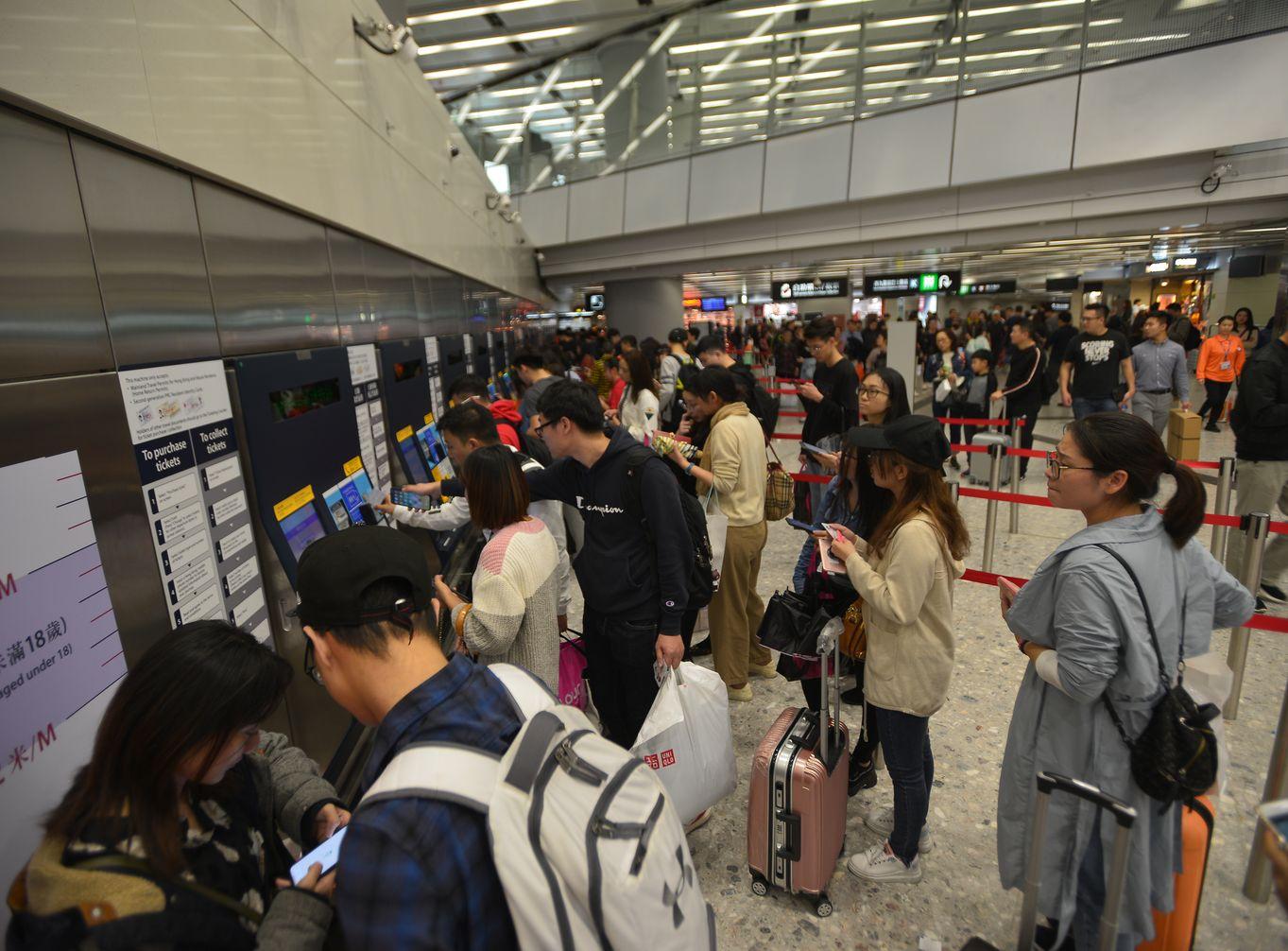 高鐵西九龍站。資料圖片