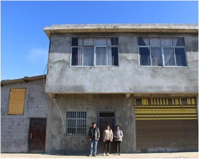王褔满与爸妈等家人已入住新居。