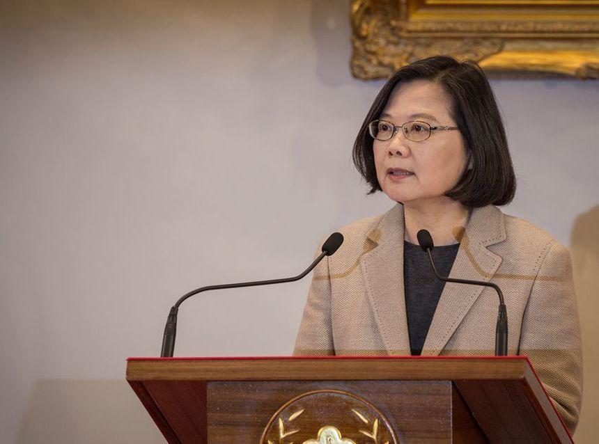 蔡英文呼吁国际社会,捍卫台湾的民主及生活方式。网上图片