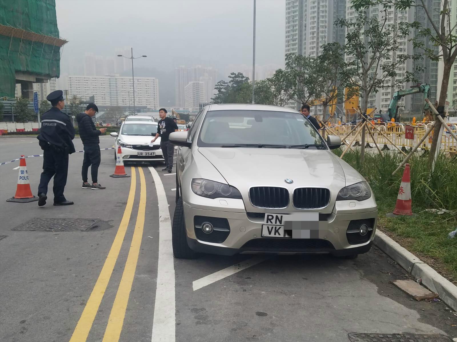 警方搜尋獲涉案私家車。