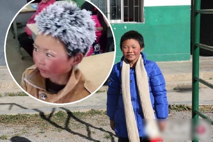 「冰花男孩」王福满事件曝光后,生活条件大为改善。网图