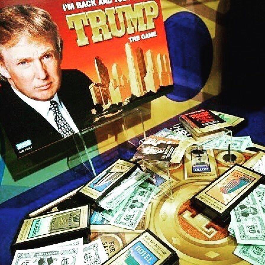 特朗普昔日推出的地产桌上游戏。