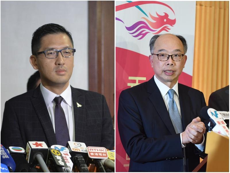 林卓廷(左)、陳帆(右)。資料圖片