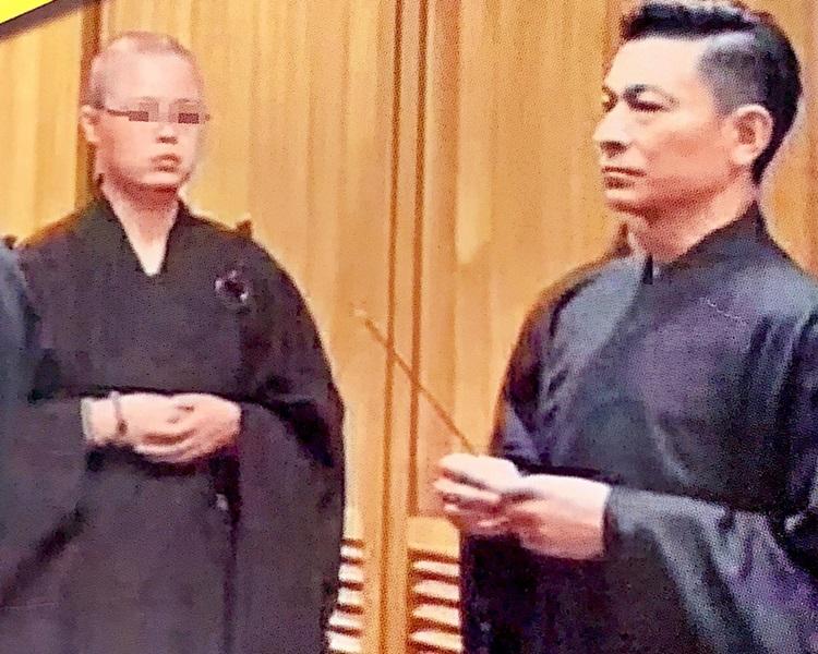 劉德華被拍到現身法事儀式。東周刊圖片