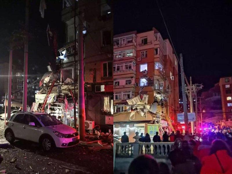 爆炸威力强大,多幢楼房的居居感到震动。