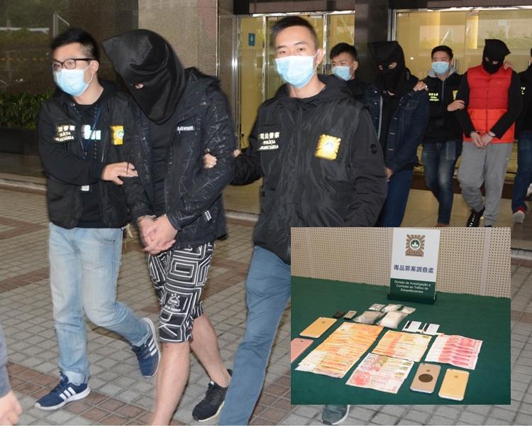 三港男在澳門販毒被捕。