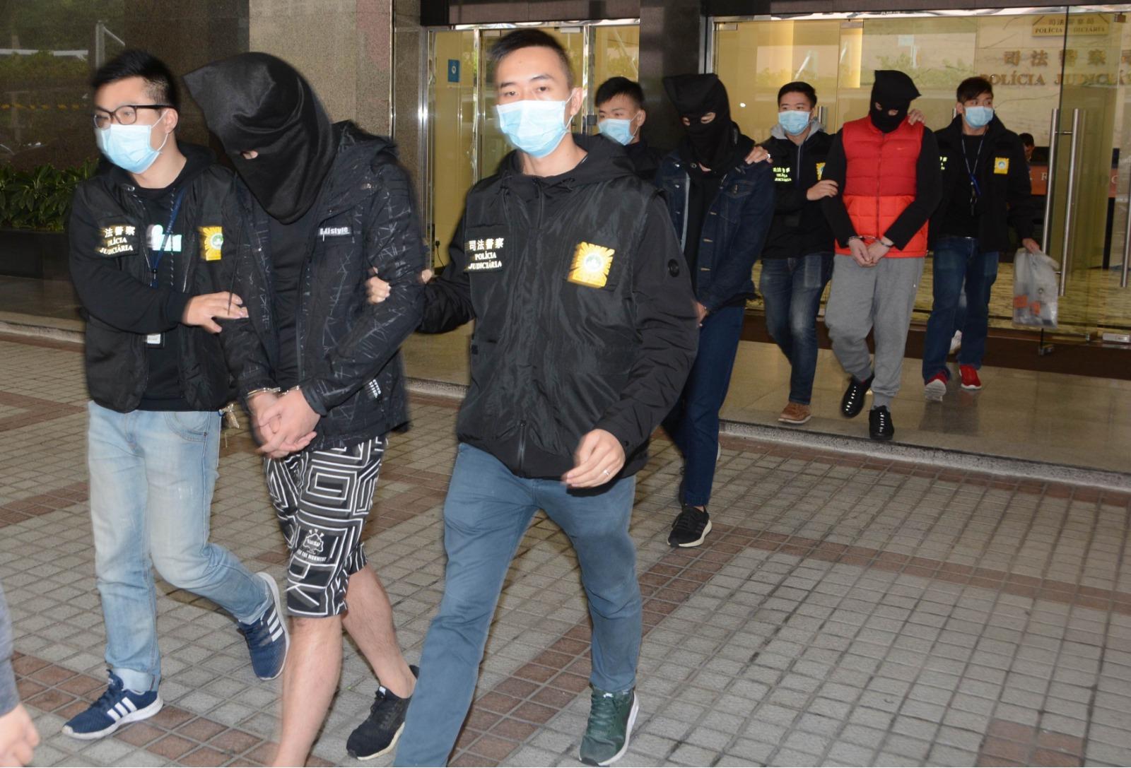 三名香港男子涉毒被澳門司警拘捕。