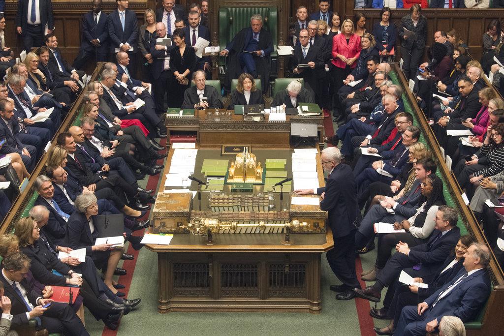 國會很大機會否決脫歐協議。AP