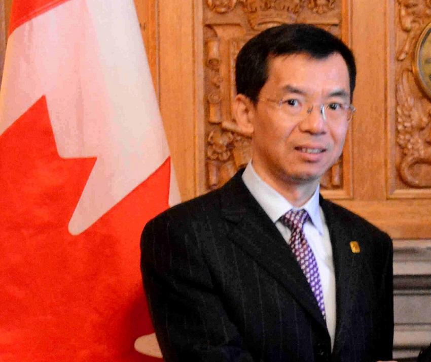 中國駐加拿大大使盧沙野。大使館圖片