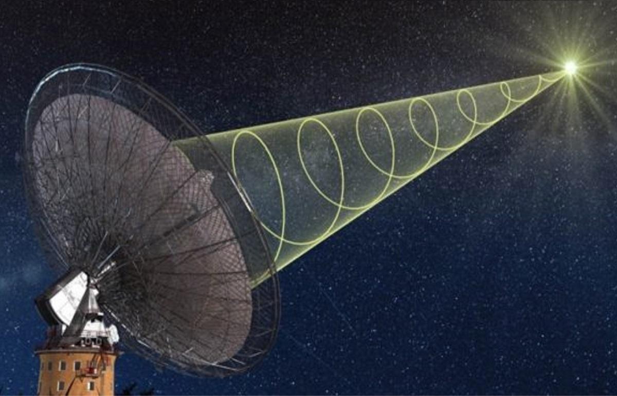 加拿大科學家頻繁收到15億光年外「神秘電波」。網上示意圖片