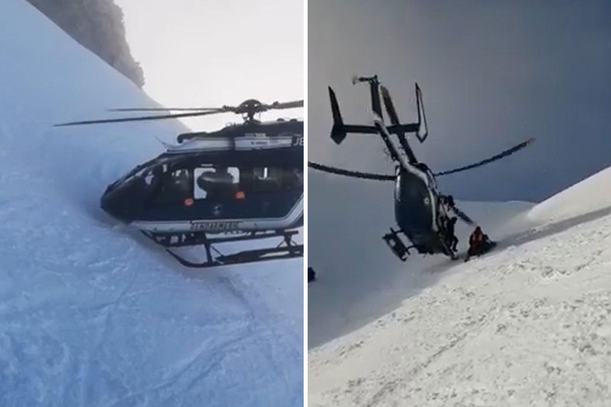 直升機救出傷者。網上圖片