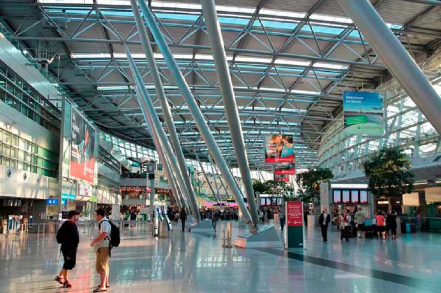 德国第3大机场杜塞道夫机场。网上图片