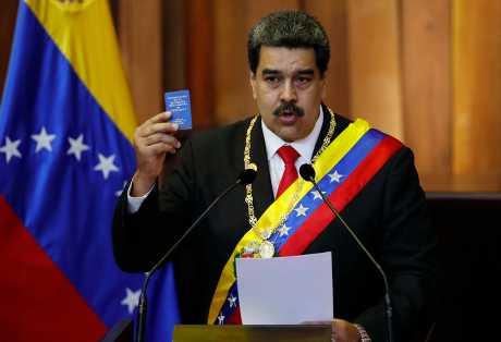 馬杜洛今天宣誓就任委內瑞拉總統。AP