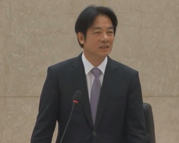 台灣行政院長賴清德今日召開臨時院會,率領內閣總辭。行政院臨時院會直播截圖