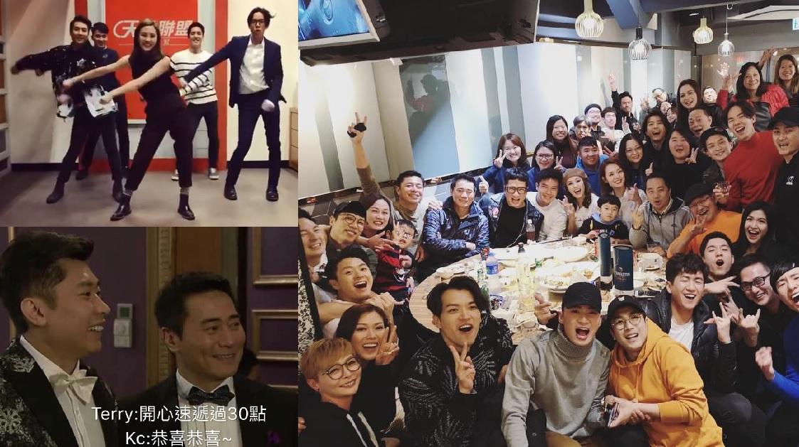 蘇韻姿、許家傑、馬貫東、李偉健等在社交平台分享收視破30點感言。