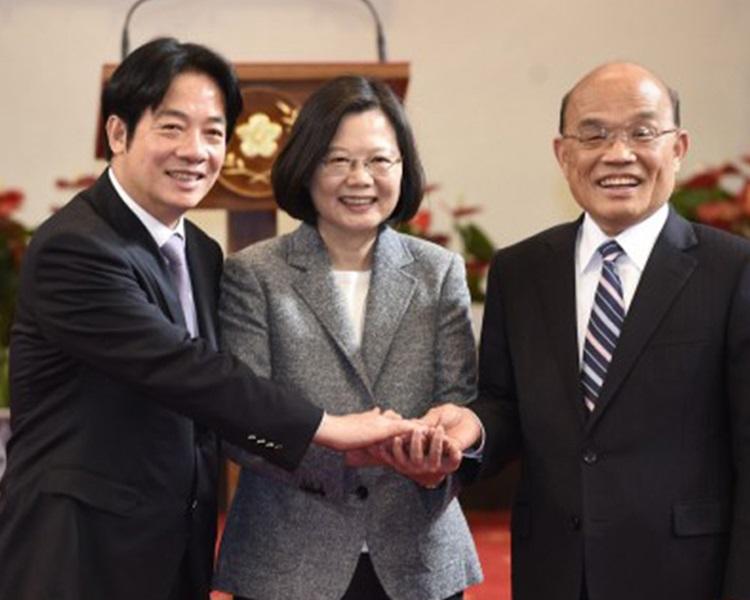 民進黨元老蘇貞昌接任行政院長一職。