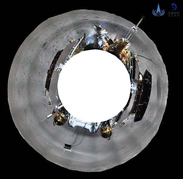 科研人員根據「鵲橋」中繼星傳回的數據,制作了清晰的環拍影像圖。CLEP