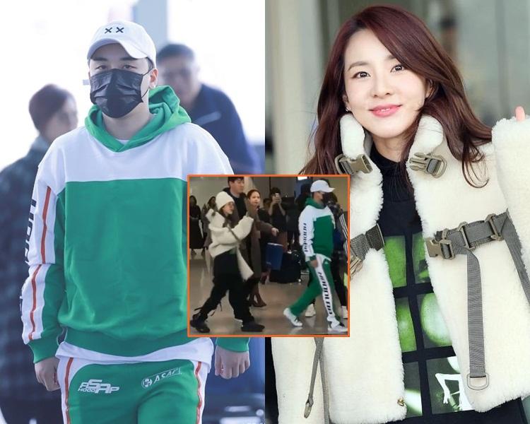 勝利和Dara雙雙抵港,還跟到來接機的粉絲打招呼。(網圖)