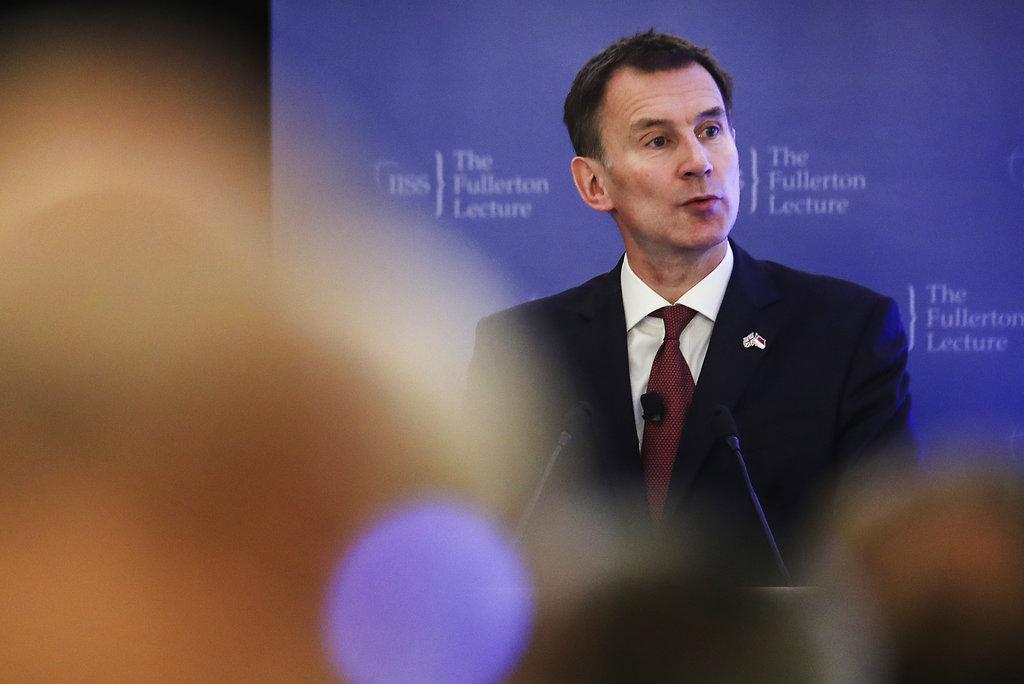 英國外相侯俊偉表示,如國會否決文翠珊協議,脫歐恐停擺。AP