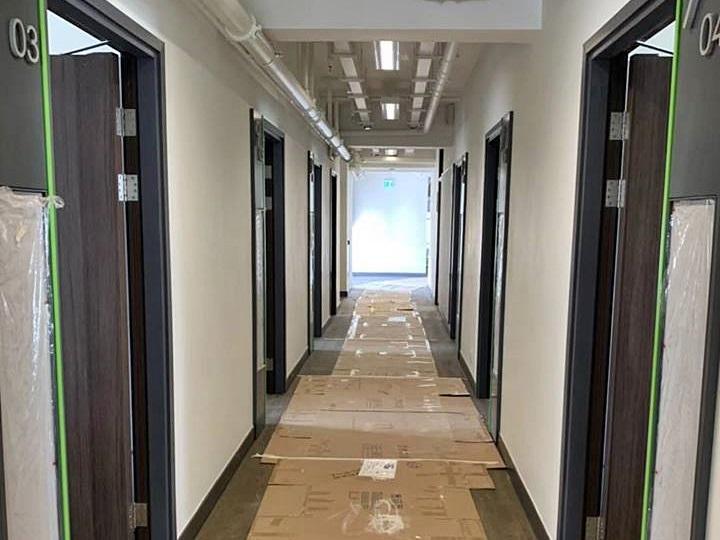 中大新落成的研究生宿舍賽馬會學生宿舍二、三座,被宿生投訴空氣質素欠佳。資料圖片