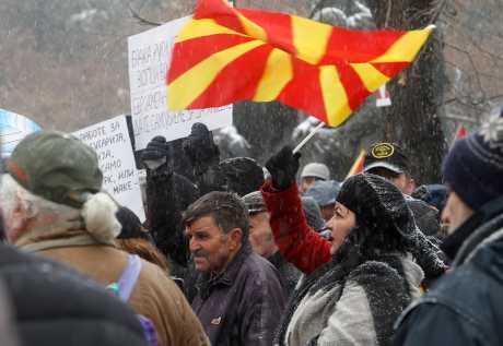 馬其頓國會今天表決通過將國名更改為北馬其頓共和國。AP