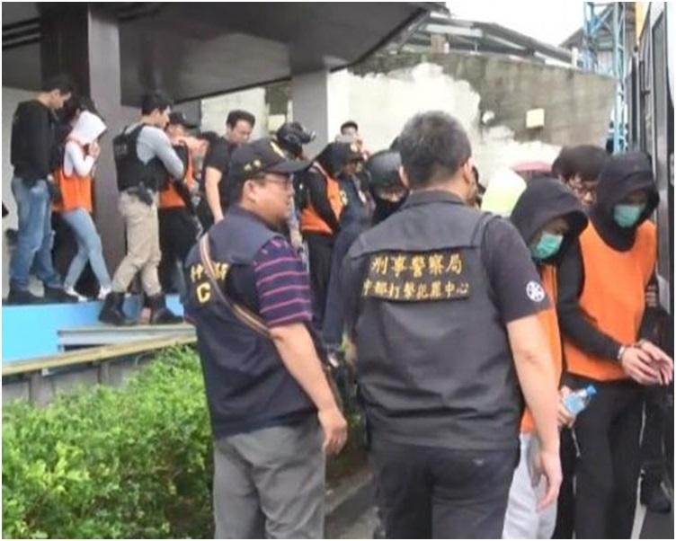 警方共拘捕27人其中5人是通緝犯。網圖